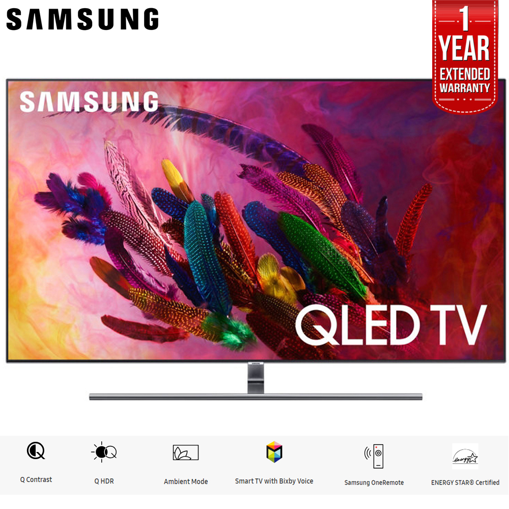 "Samsung QN55Q7F QN55Q7 55Q7 55Q7F 55"" Q7FN Smart 4K Ultra HD QLED TV (2018) (QN55Q7FNAFXZA) with 2x 6ft High Speed HDMI Cable + Universal Screen Cleaner for LED TVs"