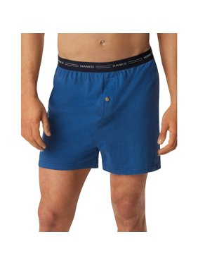 HanesBig Men's Comfort Flex Waistband Knit Boxer 5-Pack, 2XL