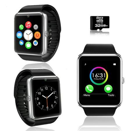 Indigi  2 In 1 Gt8 Bluetooth Smartwatch   Phone W  Pedometer   Sleep Monitor   Camera W  32Gb Microsd Included
