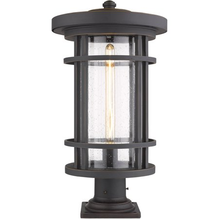 One Light Pier Mount (Jordan 1 Light Outdoor Pier Mounted Fixture in Oil Rubbed Bronze finish )