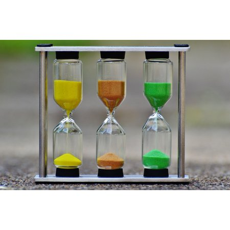 Unity Sand Hourglass (LAMINATED POSTER Sand Run Out Time Hourglass Transience Poster 24x16 Adhesive)