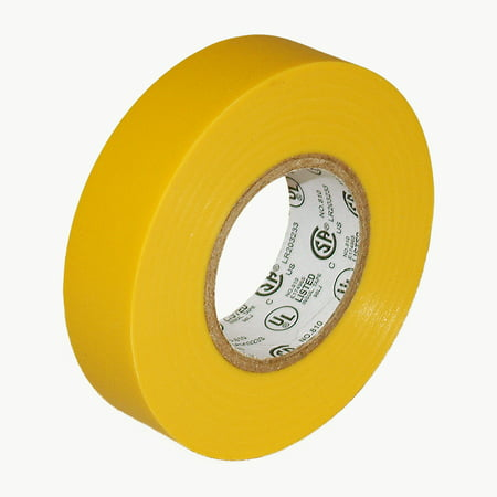 JVCC E-Tape Colored Electrical Tape: 3/4 in. x 66 ft. (Yellow) Colored Plastic Vinyl Electrical Tape