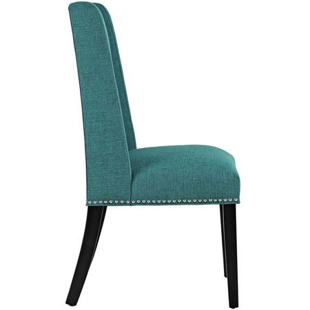 Hawthorne Collection Fabric Upholstered Dining Side Chair in Teal - image 2 of 4