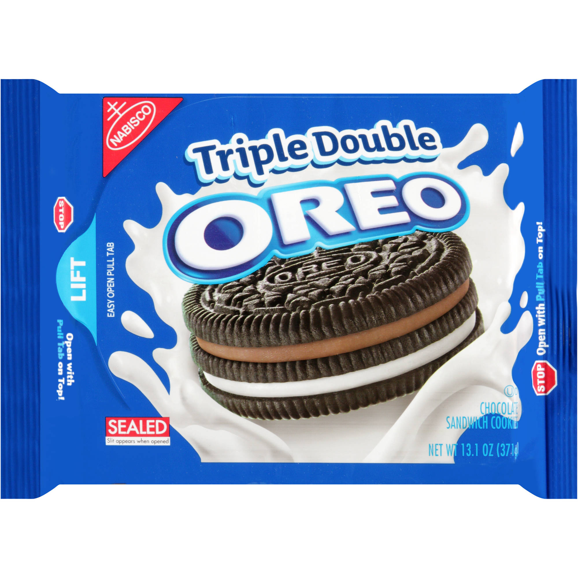 Nabisco Oreo Triple Double Chocolate Sandwich Cookies, 13.1 oz