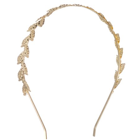 Lux Accessories Gold Tone Roman Goddess Leaf Headband Hair Accessories For Women - Roman Leaves