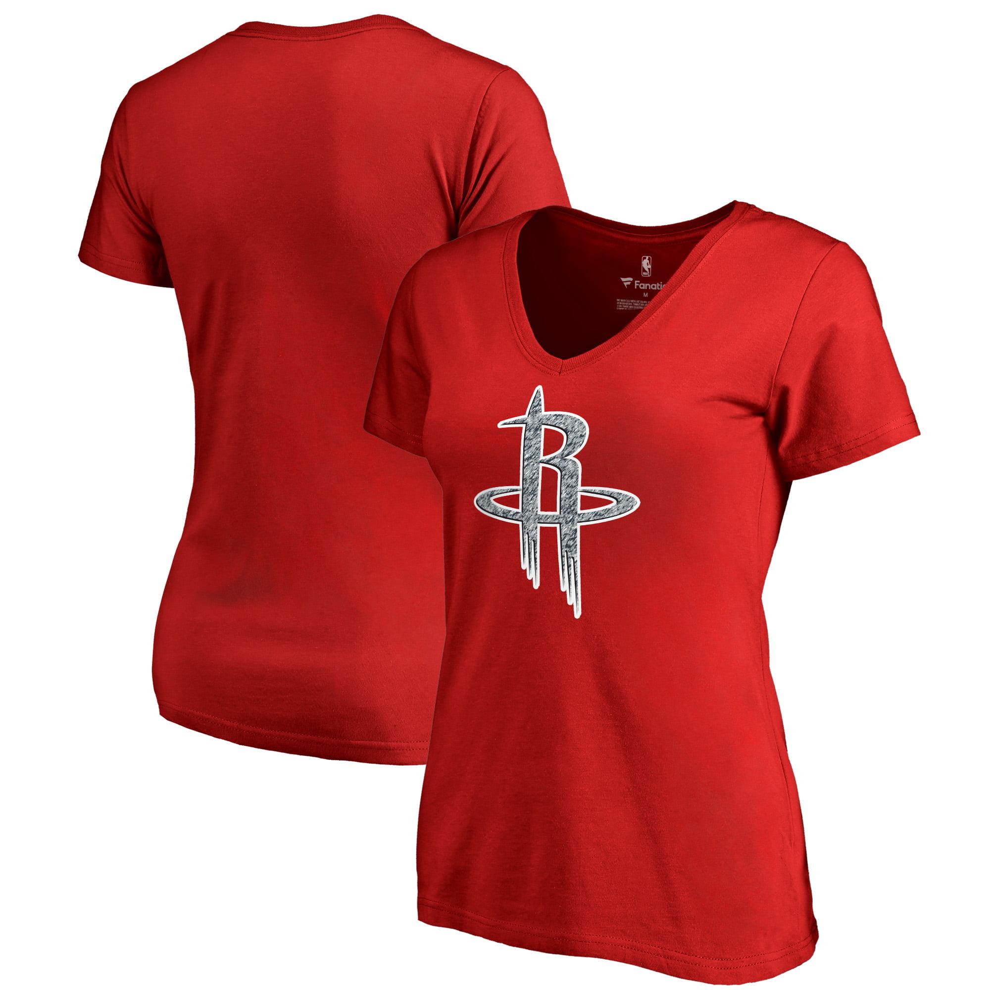 Houston Rockets Fanatics Branded Women's Static Logo V-Neck T-Shirt - Red