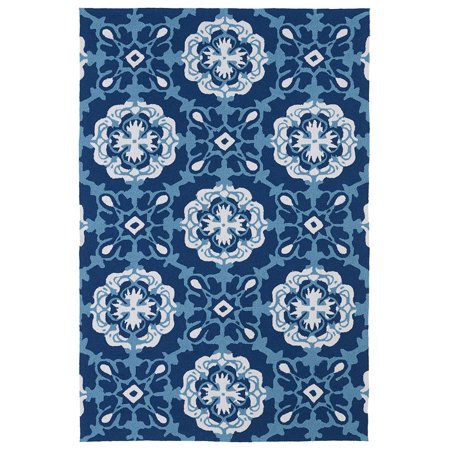 Kaleen Rugs Matira Collection MAT12-17 Blue Handmade 2'X3' Rug