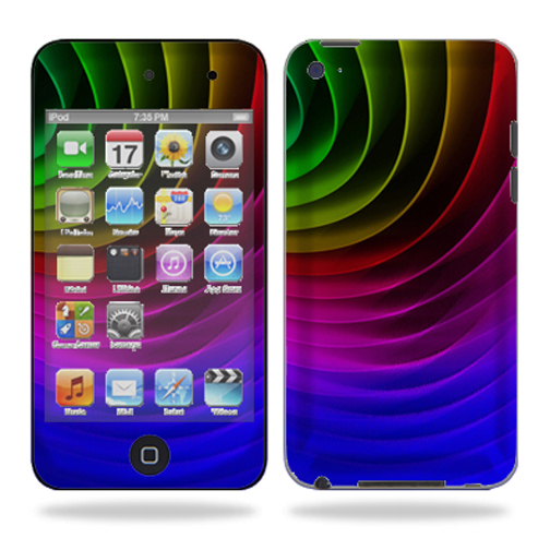 Skin Decal Wrap for iPod Touch 4G 4th Generation Color Wheel