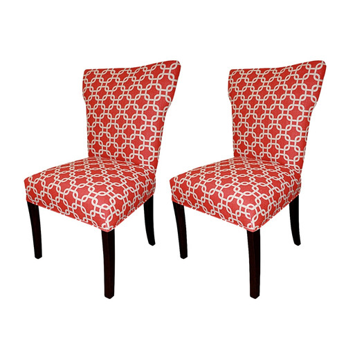 Sole Designs Bella Cotton Wingback Cotton Side Chair (Set of 2)