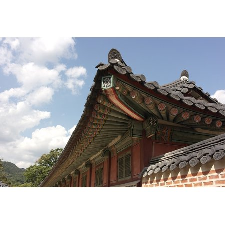 Laminated Poster Roof Tile Gyeongbok Palace Republic Of Korea Sky Poster Print 24 X 36