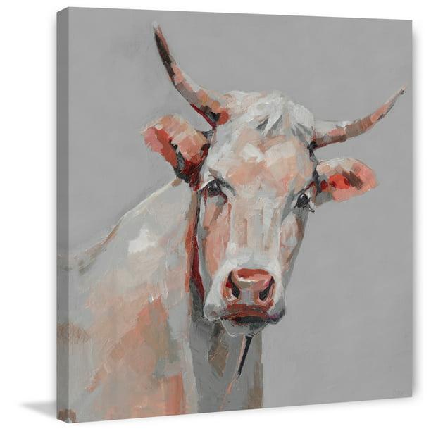 Parvez Taj Mischievous Cow Canvas Wall Art Walmart Com Walmart Com