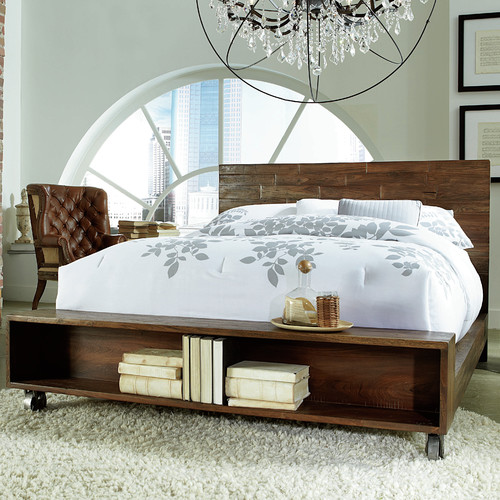 World Interiors King Storage Platform Bed