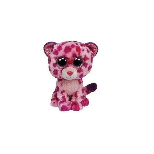Ty Glamour The Pink Purple Leopard Wild Animal Beanie Boos Stuffed