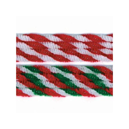 "Darice Holidays Chenille Stem 8mm 12"" Candy Cane"