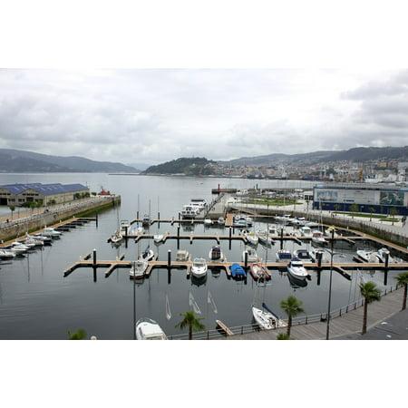 Shores City Center - LAMINATED POSTER Ria Vigo City Boats Vigo Shore Poster Print 24 x 36