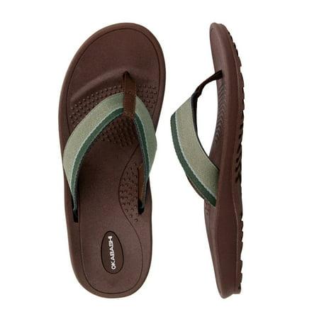 8c0101c5287185 OKABASHI - Okabashi Mens Canvas Indigo Classic Ergonomic Thongs Flip Flop  Sandal Shoes - Walmart.com