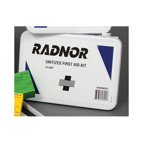 Radnor Person Unitized First Aid Kit In Metal Case
