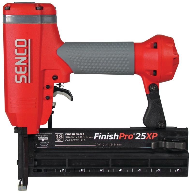 FinishPro25XP 760102N Brad Nailer, 110 Nails, 5 8 2-1 8 in 18 ga Adhesive Collated Nail by SENCO PRODUCTS