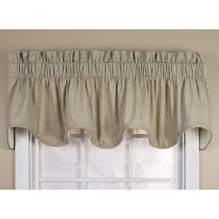 Ellis Curtain Logan Check Lined Scallop Valance