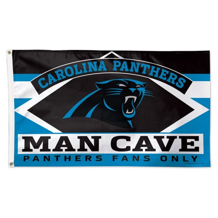Carolina Panthers WinCraft 3' x 5' Deluxe Man Cave Single-Sided Flag - No - Carolina Panthers Garden Flag