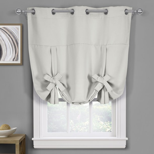 Ava Room Darkening Tie Up Shade With Grommets Curtains For Small Window 46 W X 63 L Greyish White Walmart Com Walmart Com,Ikea Customer Service Usa Email