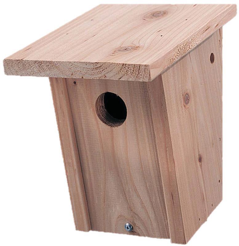 Pennington cedar bluebird wild bird house 1 unit for Classic bird houses