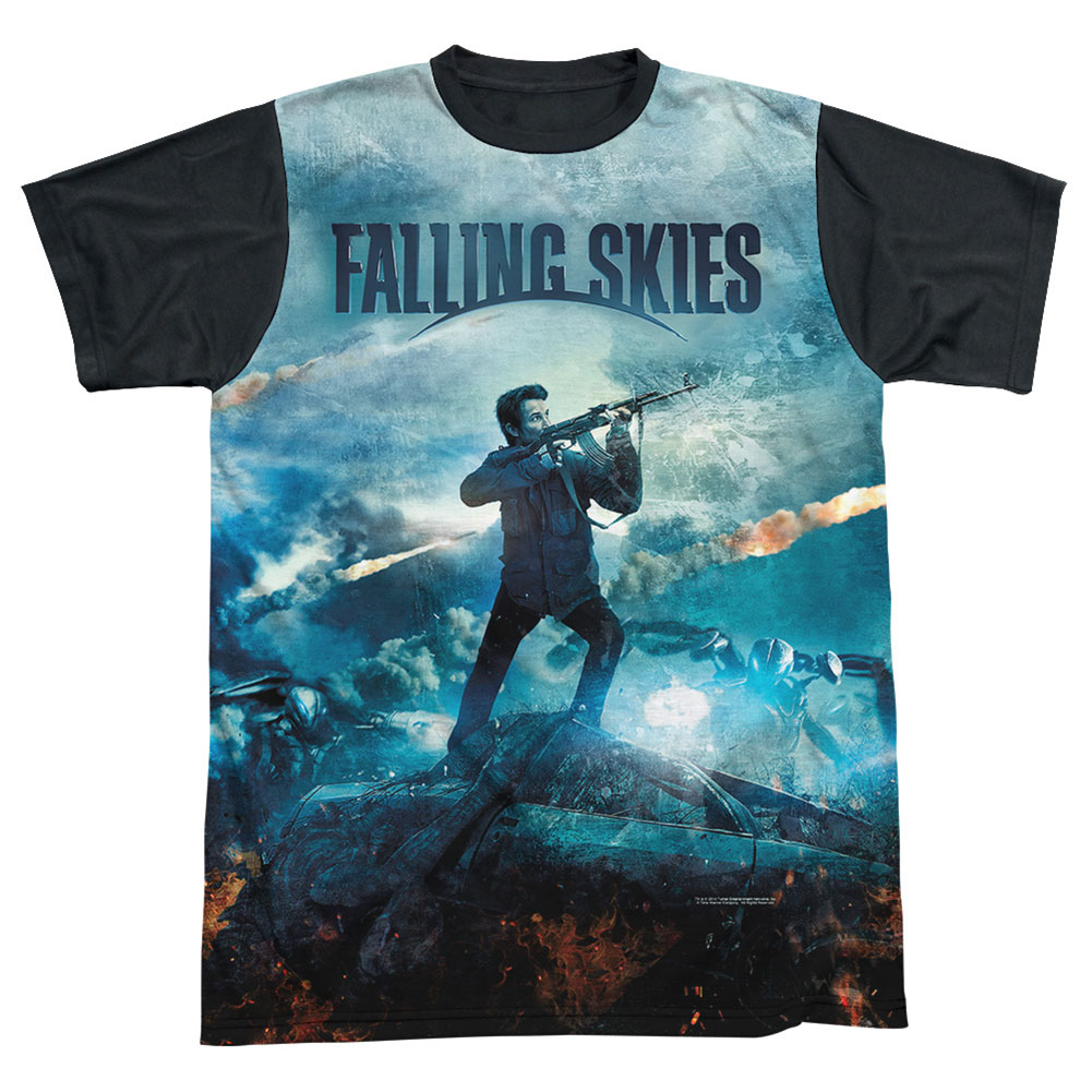 Falling Skies Men's  Battle Sublimation T-shirt White