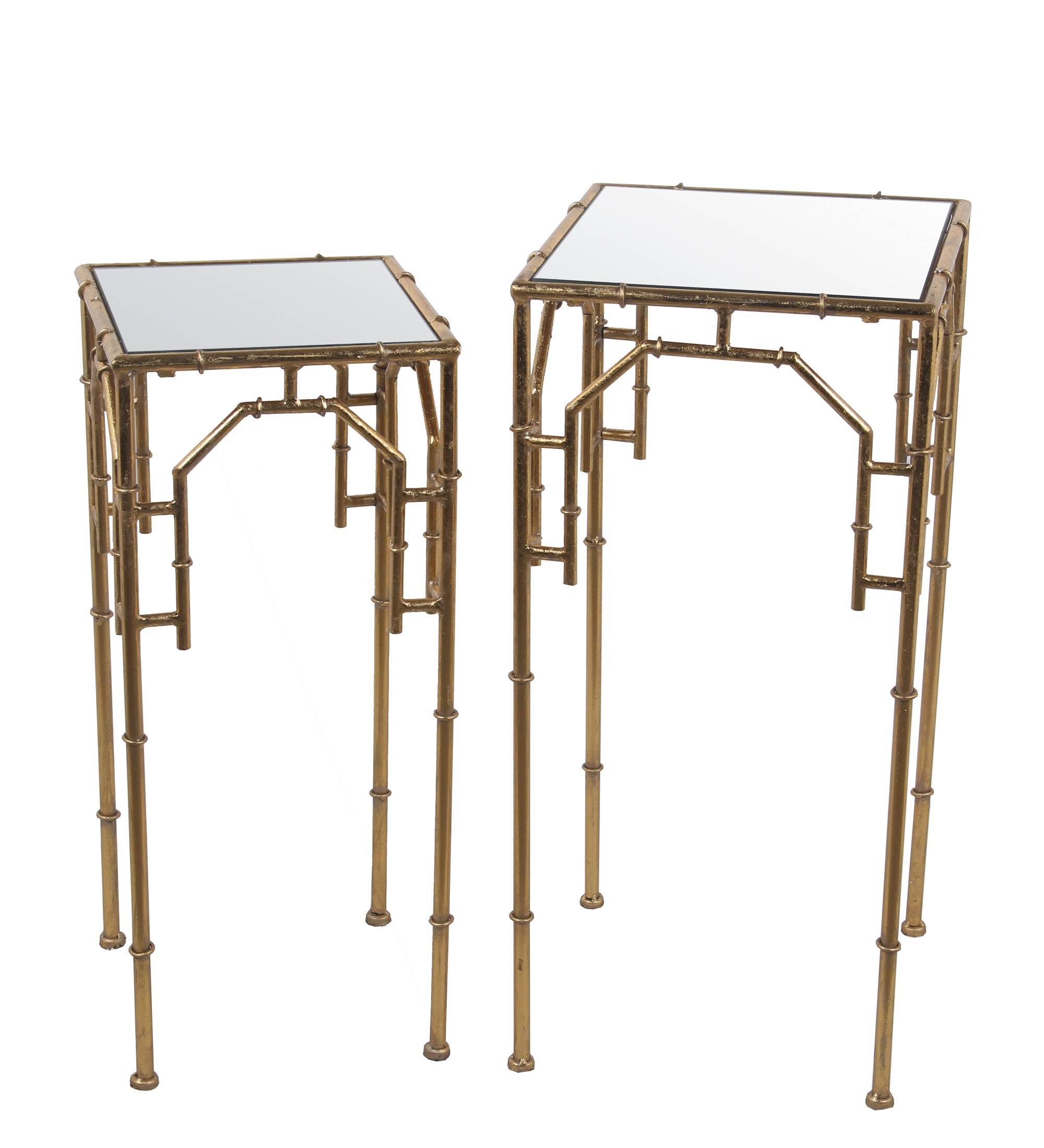2 Pc Plant Stands - Gold Leaf