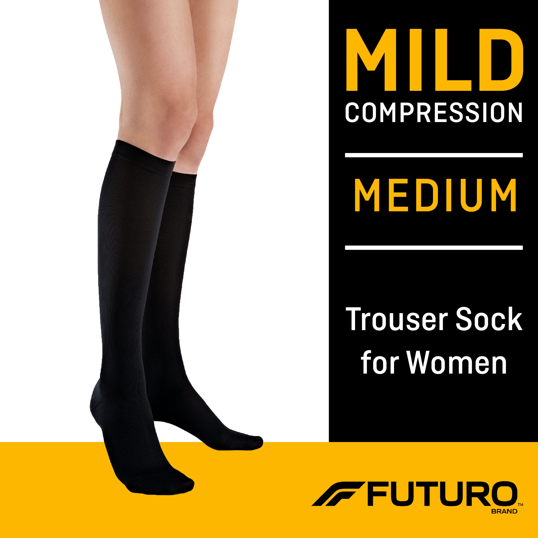 FUTURO Women's Trouser Socks, Medium, Mild Compression - Walmart.com -  Walmart.com