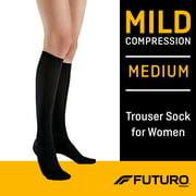 FUTURO Women's Trouser Socks, Medium, Mild Compression