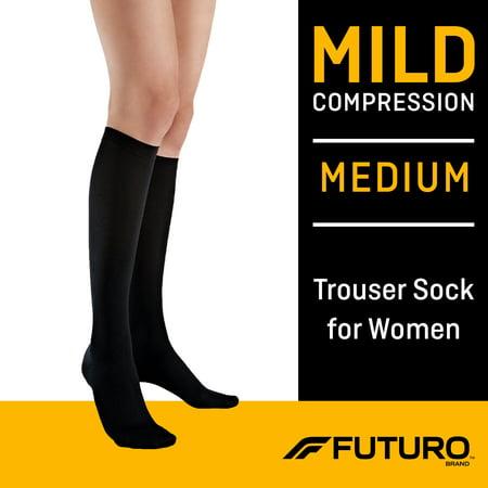 FUTURO Womens Trouser Socks, Medium, Mild Compression