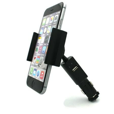 Car Mount Charging Socket Holder USB Port Dock Cradle Gooseneck Swivel Black V9J Compatible With Motorola Moto E4 PLUS V9J Play G4 Play E5 Play, Droid Maxx 2 - Nokia 8 - OnePlus 5, 5T, 6, 6T