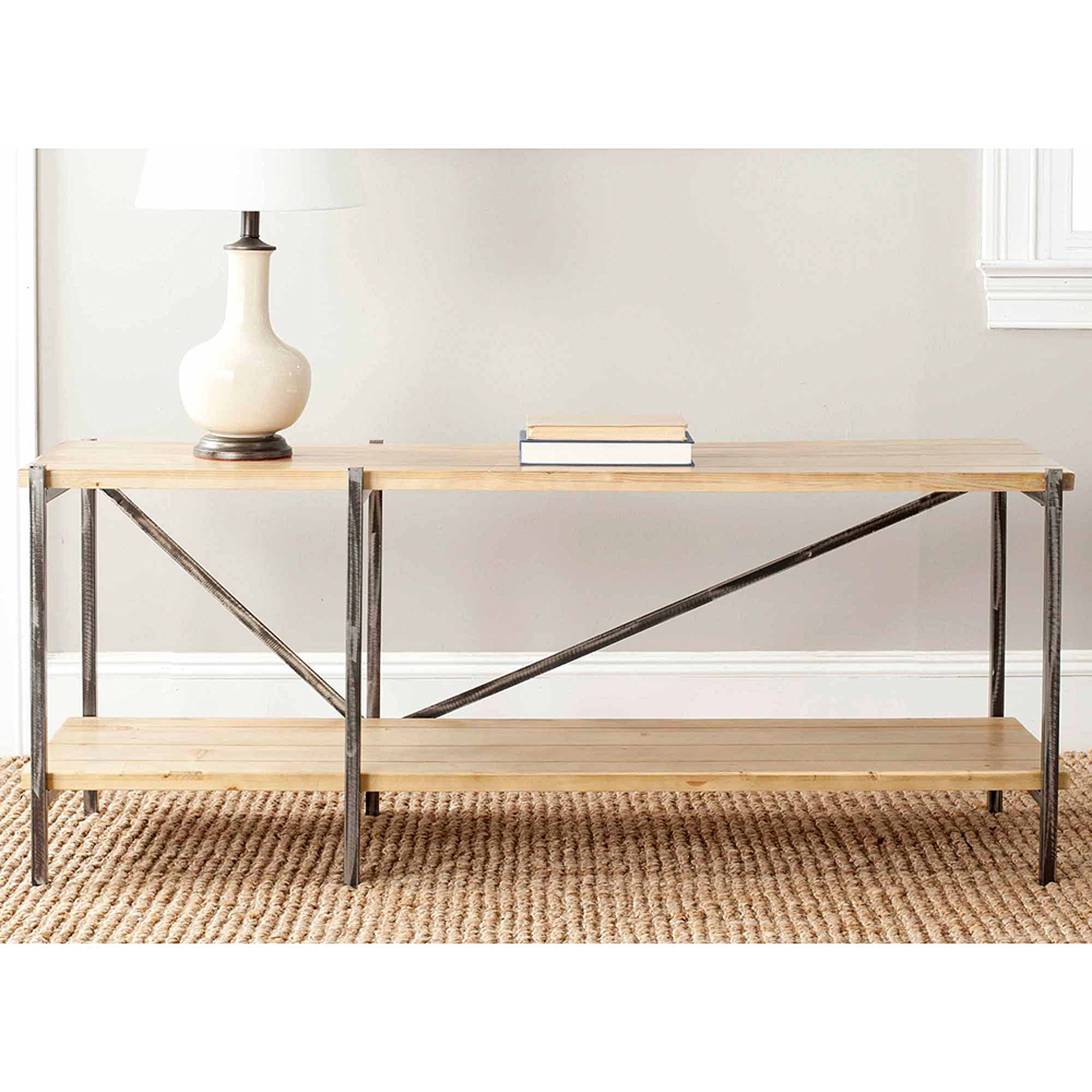 Safavieh Theodore Fir Wood Console, Natural Color