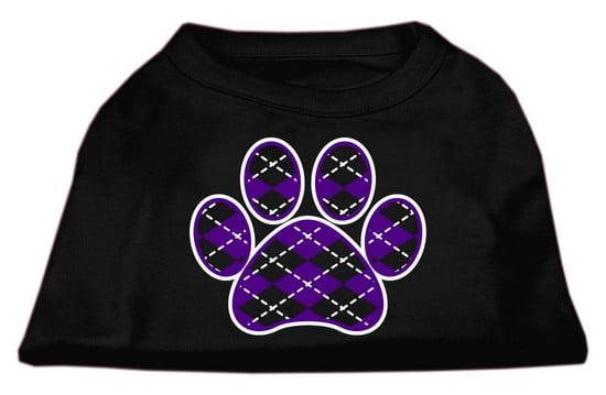 Argyle Paw Purple Screen Print Shirt Black XXL (18
