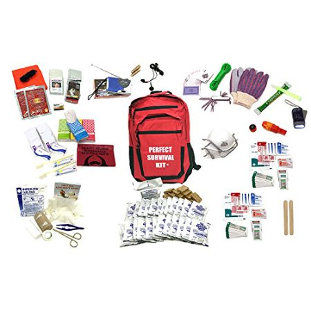 Deluxe 2-Person Perfect Survival Kit for Emergency Disaster Preparedness for Earthquake, Hurricane, Fire, Evacuations, Auto, Home and Family