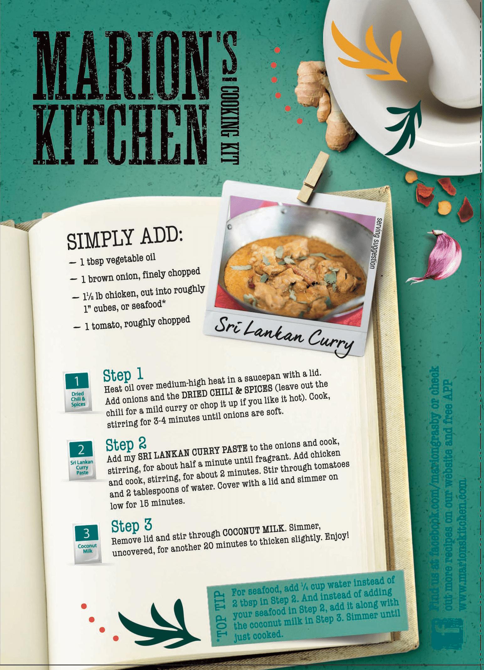 Marion S Kitchen Sri Lankan Curry Meal Kit