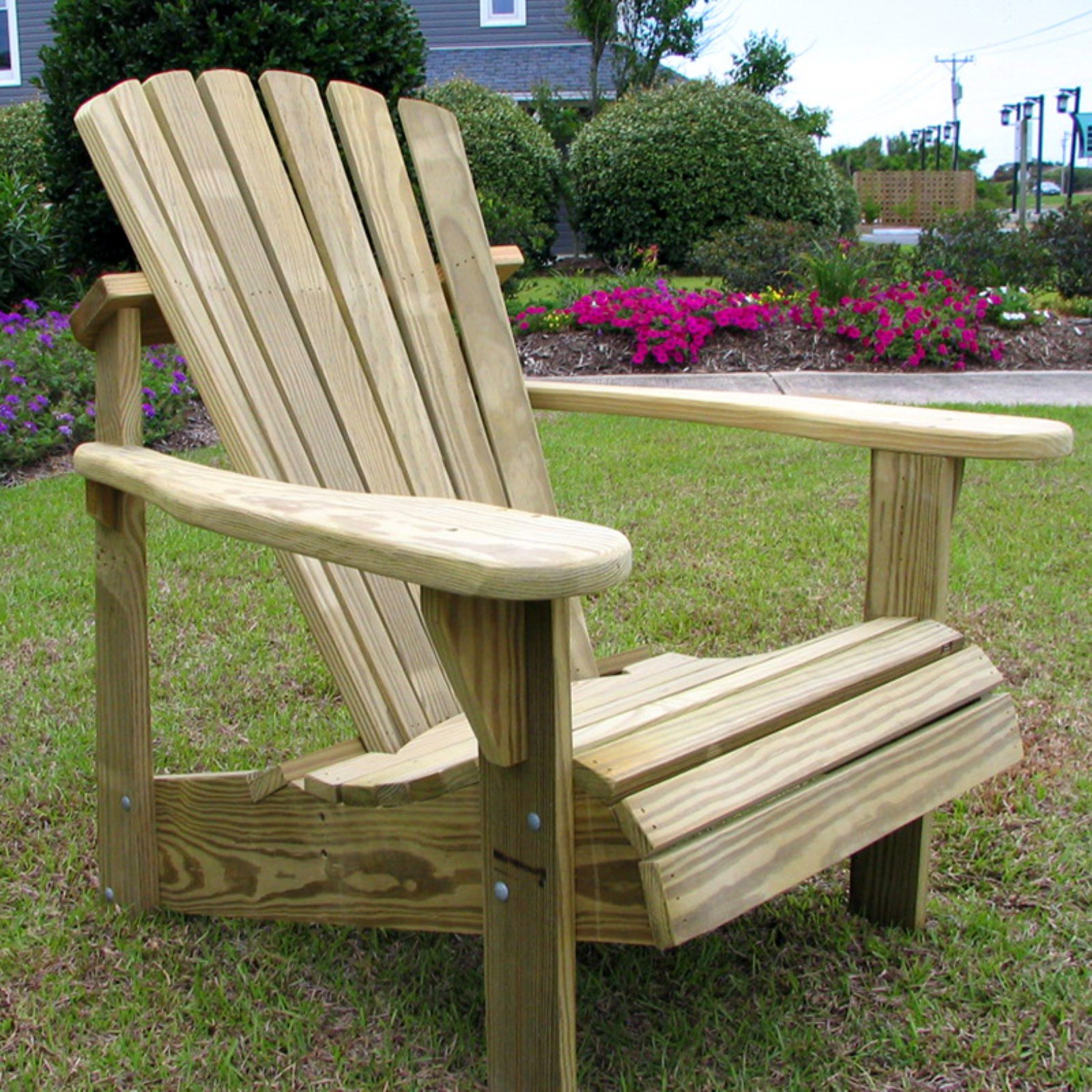 Weathercraft Designers Choice Pine Adirondack Chair - Natural