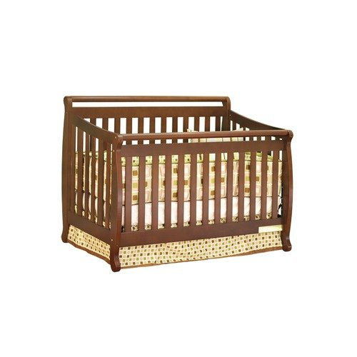 AFG Furniture Athena Amy Convertible Crib with Toddler Rail in Espresso