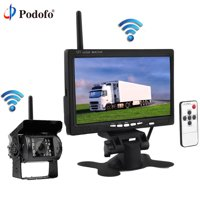 "Built-in Wireless Ir Night Vision Rear View Back up Camera System + 7"" HD Monitor for RV Truck Trailer Bus"