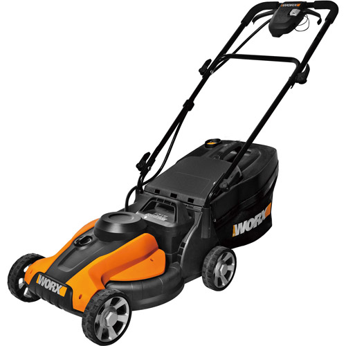 """WORX 14"""" Cordless Electric-Powered Push Lawn Mower with IntelliCut"""