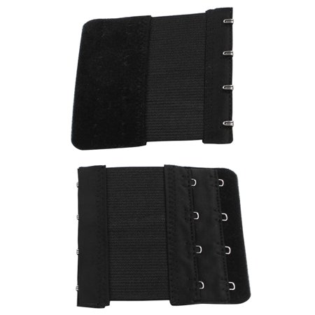 Women Buckle Replacement 2 Rows 4 Hooks Bra Strap Extender Pair