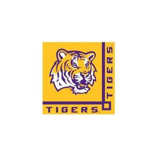 Creative Converting 207312 Louisiana State Tigers - LSU - Beverage Napkins