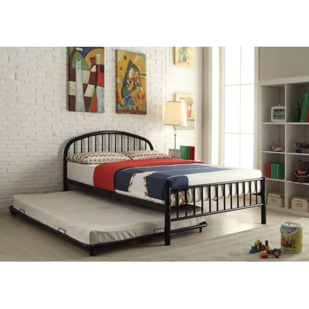 Simple Relax Cailyn Black Twin Trundle Bed Walmartcom