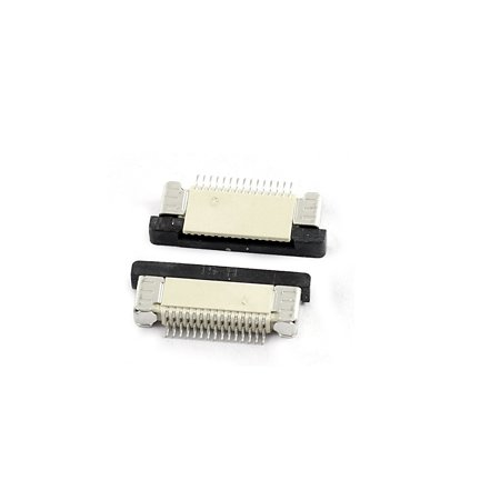 10Pcs Orifice inférieur 15Pin 0.5mm Pas FFC FPC Connecteur Ruban Sockets - image 1 de 2