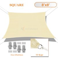 Sunshades Depot Sun Shade Sail Rectangle Tan Beige 180GSM Permeable Canopy Customize Size Available Commercial For Patio Garden Preschool Kindergarten Playground Outdoor Facility Activities