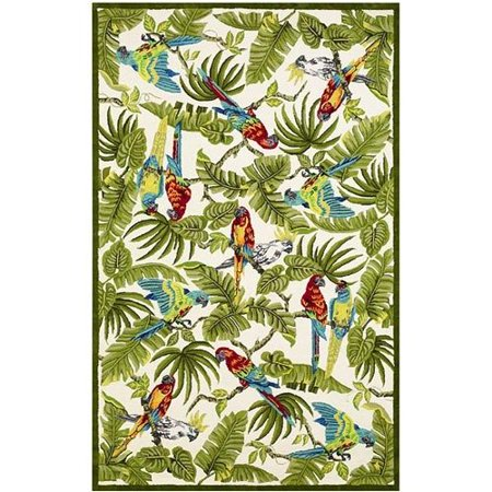 828 Rugs International Staccato Accents Parrot Novelty Rug