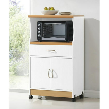 Granite Kitchen Island Cart (Hodedah HIK77 Microwave Cart)