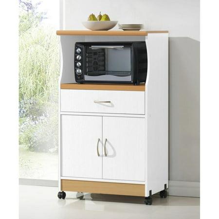 Hodedah HIK77 Microwave Cart - Cuisine Island Kitchen Cart