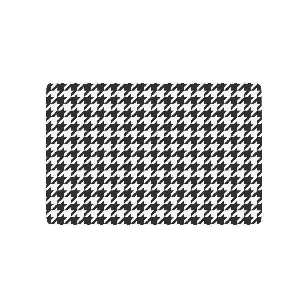 Mkhert Classical Black White Houndstooth Checkered Pattern