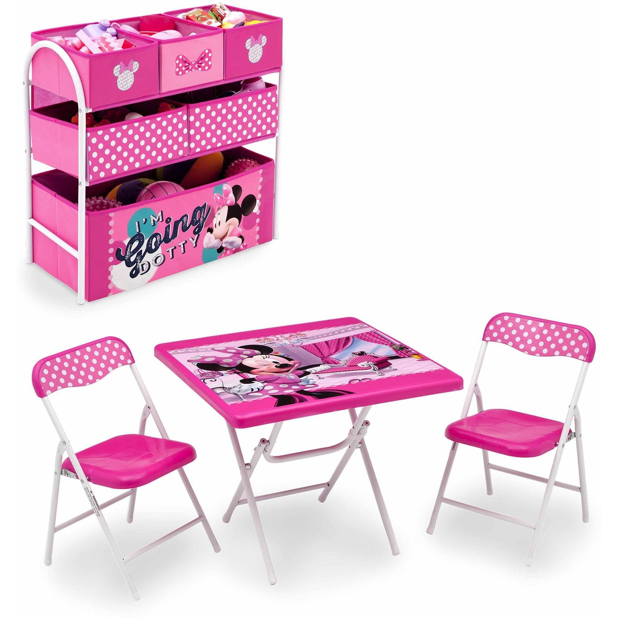 Click here to buy Disney Minnie Mouse Playroom Solution by Delta Children.